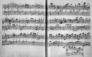 Bach's manuscript of the  Aria from the Goldberg Variations